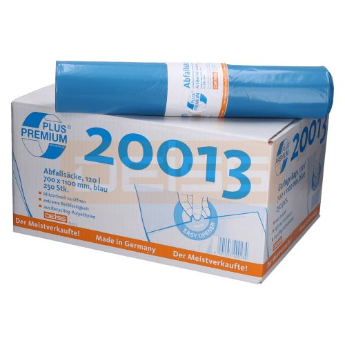 Deiss Premium Abfallsack 120 Ltr Blau Typ 60 22173
