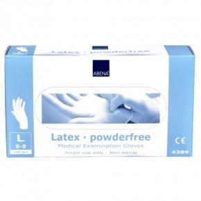 Abena Latex Einmal-Handschuh puderfrei, Größe L