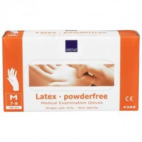 Abena Latex Einmal-Handschuh puderfrei, Größe M