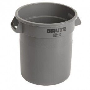 Rubbermaid Runder Brute Container 38 ltr., grau