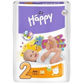 Bella Happy Babywindeln Mini Gr. 2 Babywindel